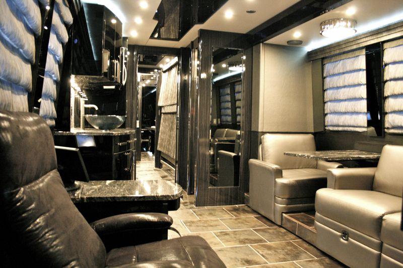 Inside Luxury Tour Bus Band Tour Bus Interior...