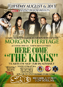 Morgan Heritage set for 'HERE COME THE KINGS' Album Release Party