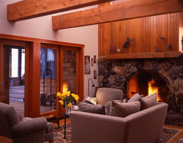 Cozy Western Red Cedar Interior!