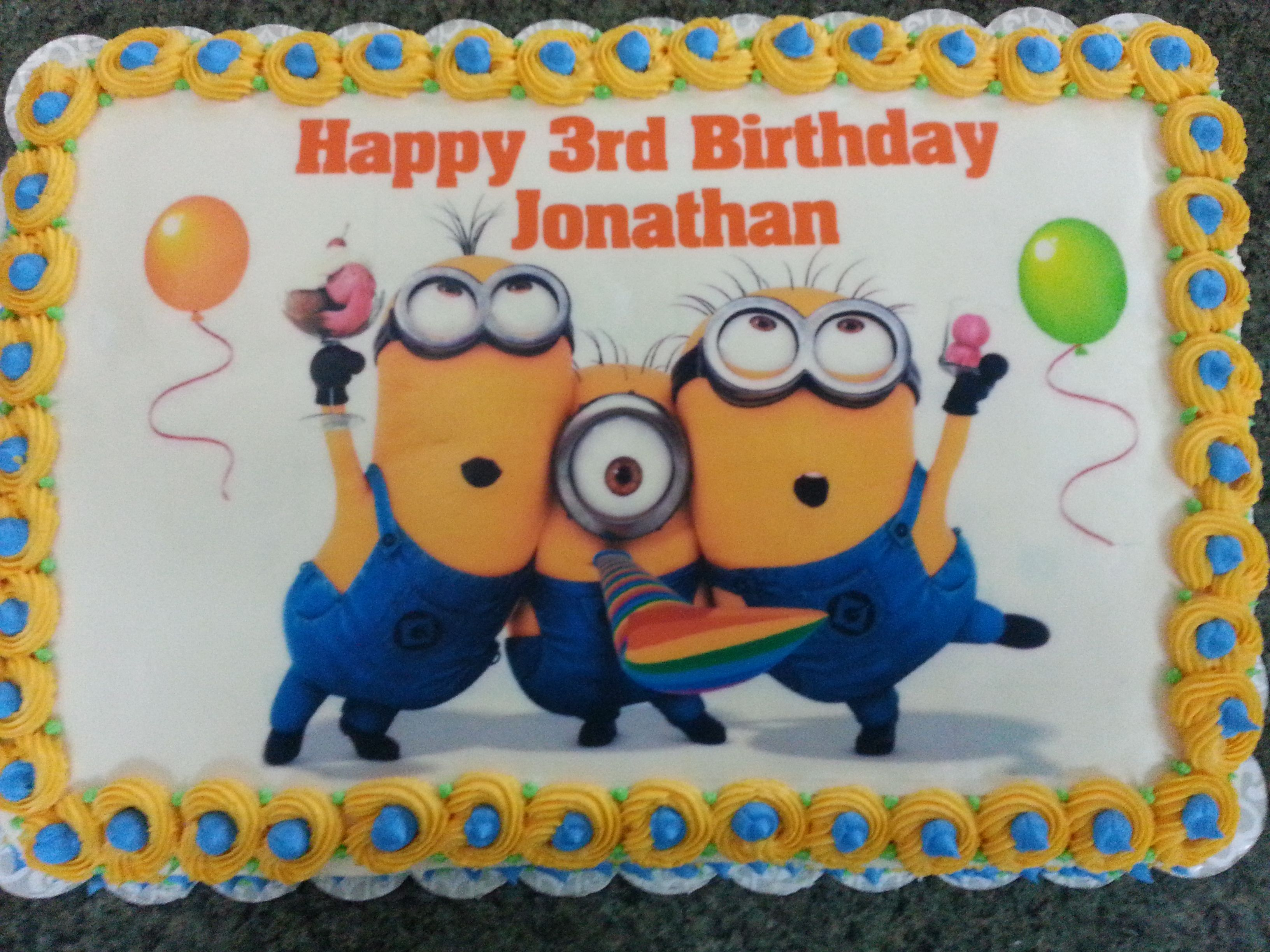 Birthday Cake Images Minions ~ Minion sheet cake cakes cake birthdays and twin