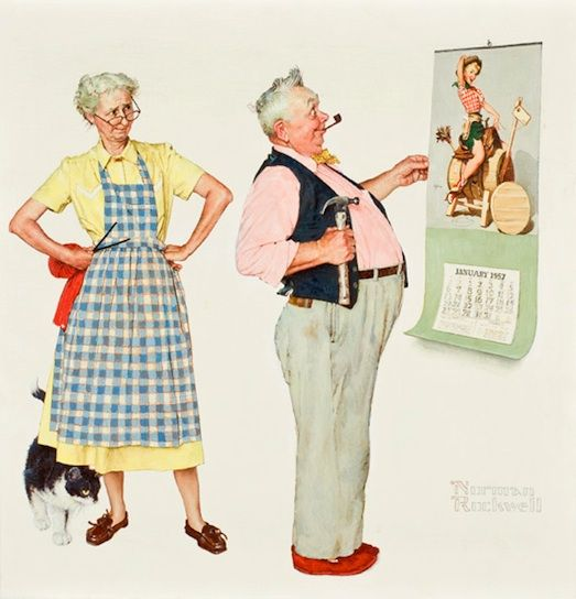 Vintage Norman Rockwell Spring Tonic The Tender Years Embossed Print 1