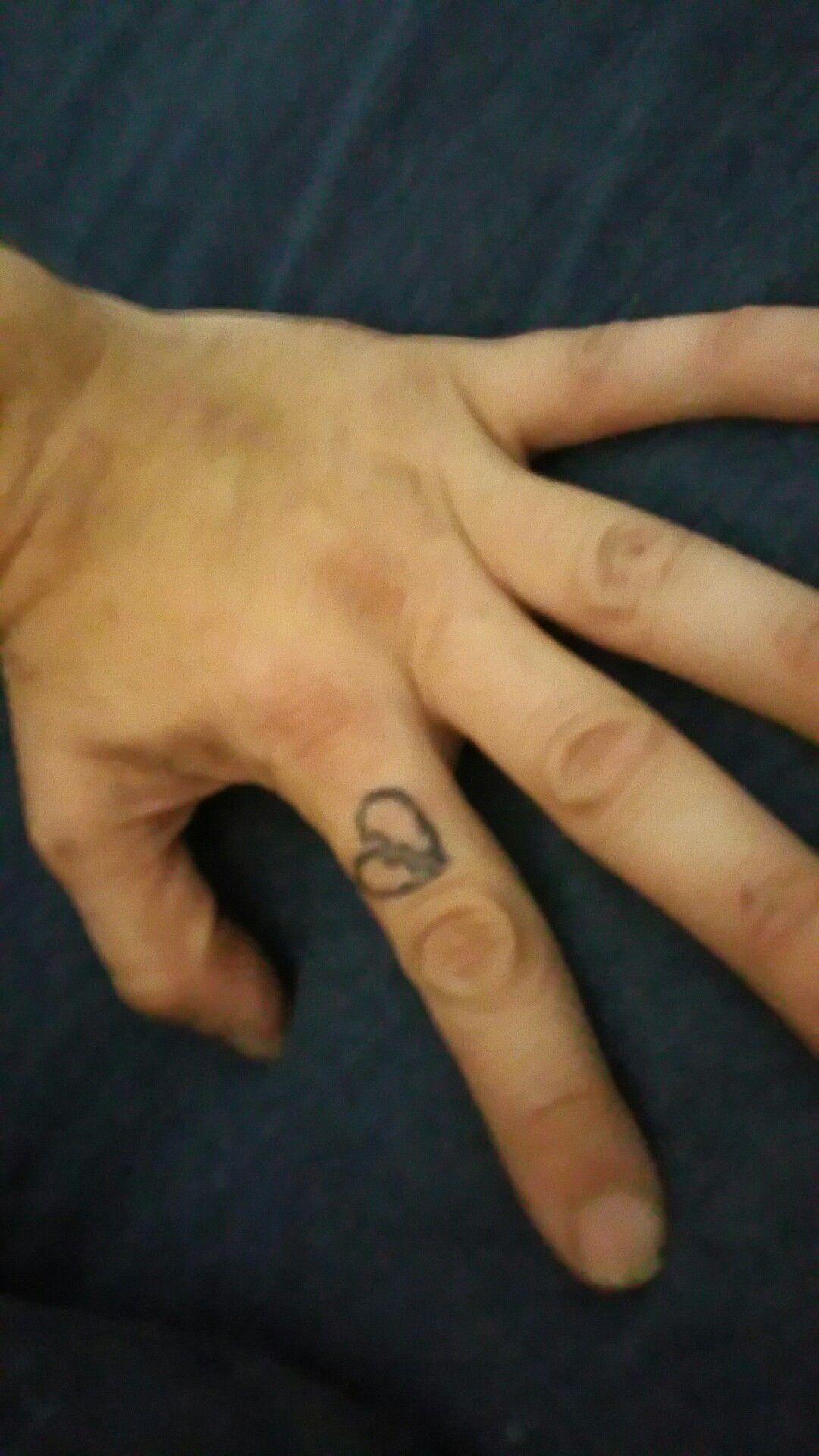 Broken heart done by myself. Broken heart tattoo, Finger