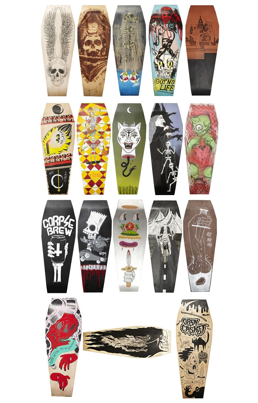Corpse Corps Skateboards. Coffin skateboards? Frick yeah