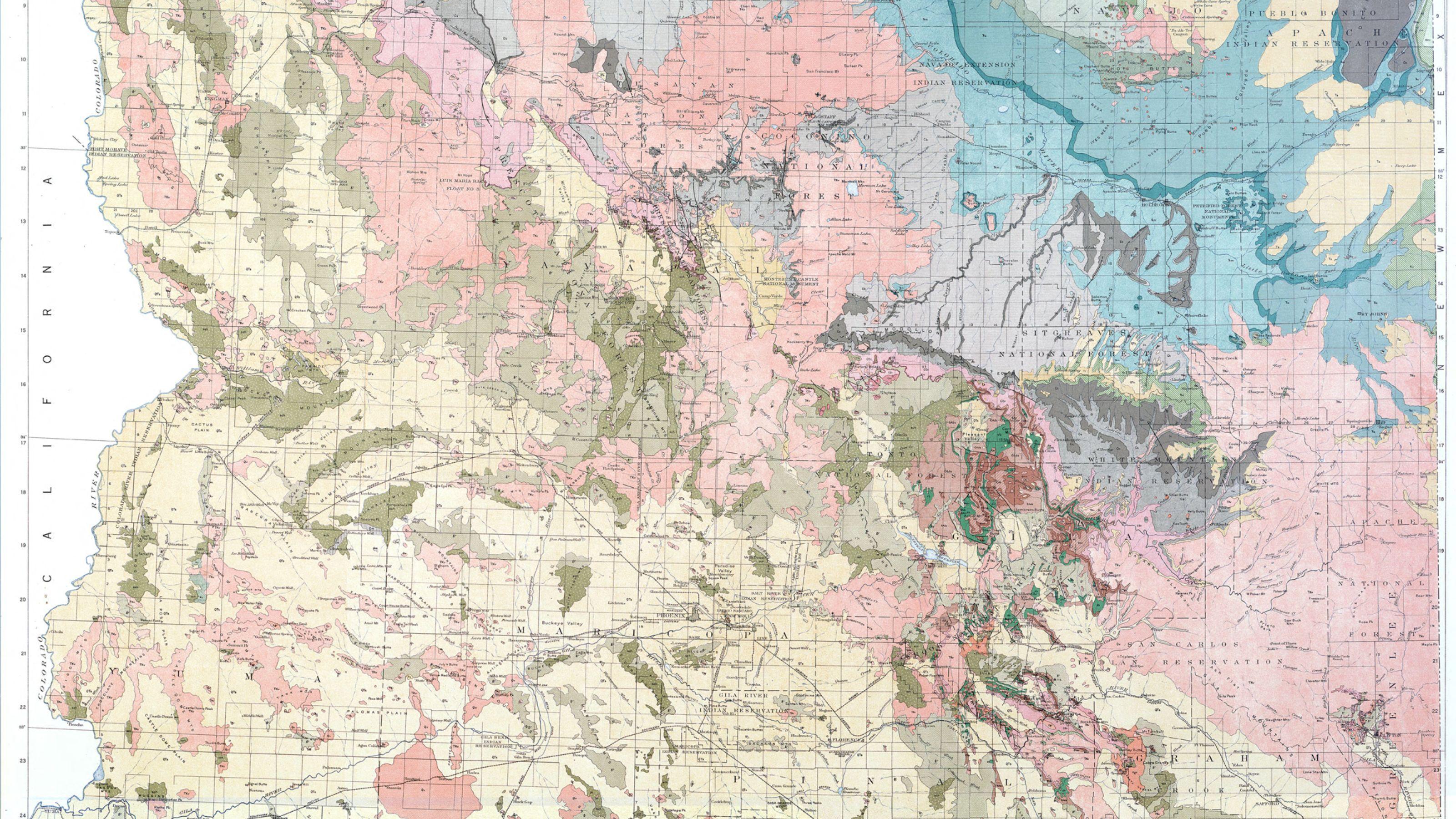 Geologic Map Of Arizona.Geologic Map Of Arizona First State Wide Geologic Map Of Arizona