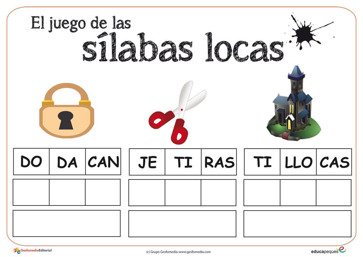 55 Ideas De Sílabas Locas Silabas Juegos De Silabas Lectura Y Escritura