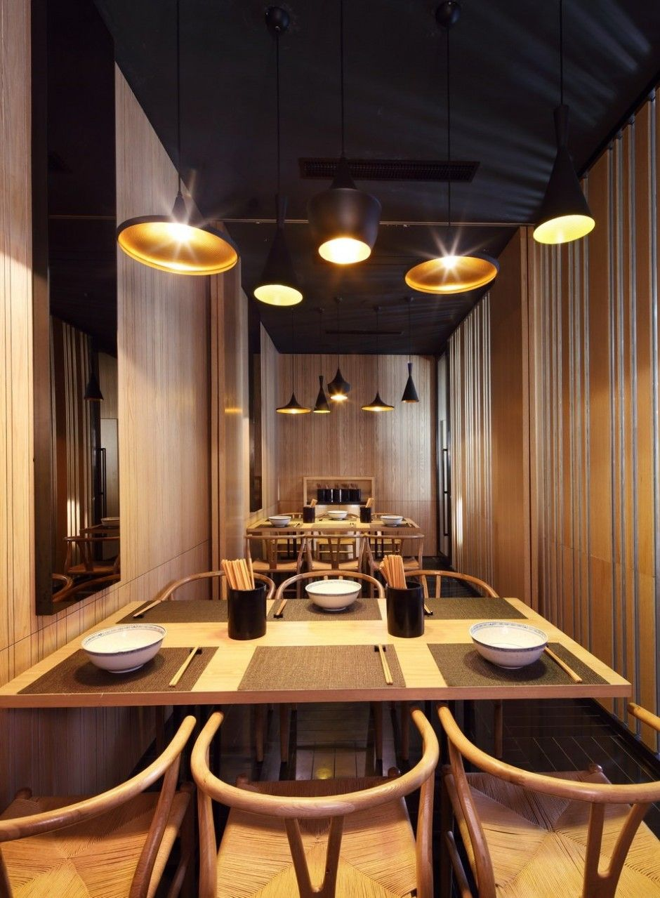 Restaurant I Interior I Furniture I Taiwan Noodle House I Golucci International Design I Beat Light Lighting by Tom Dixon