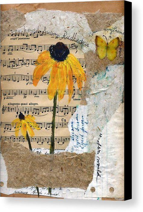 Rudbeckia Canvas Print / Canvas Art by Sorana Tarmu #artjournalmixedmediainspiration