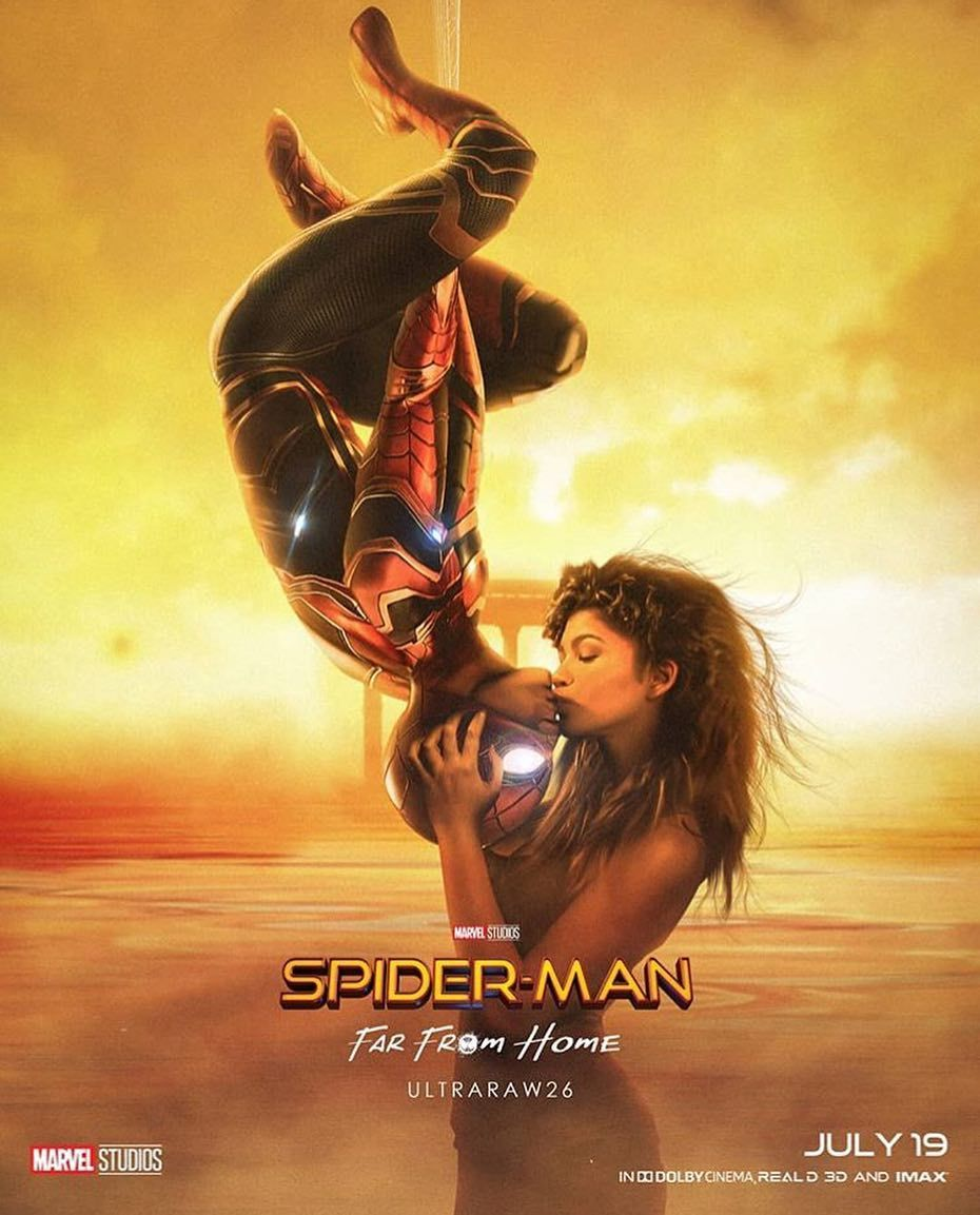 spider-man: far from home kiss | marvel | pinterest - spiderman
