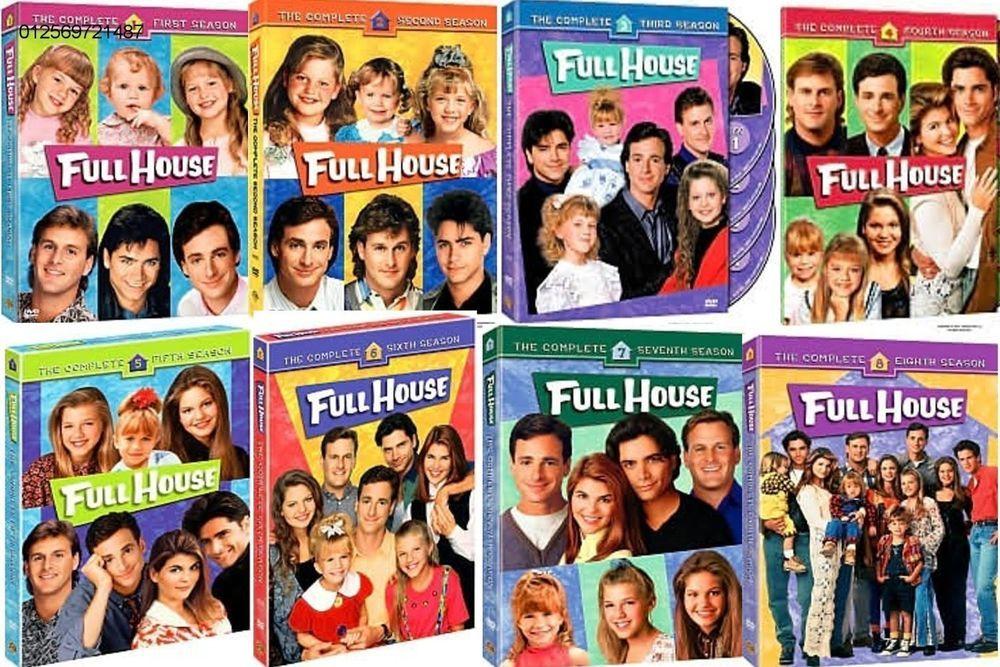 Full House Complete Series Season 1 8 1 2 3 4 5 6 7 8 New Dvd Set Full House Dvd Full House Full House Seasons