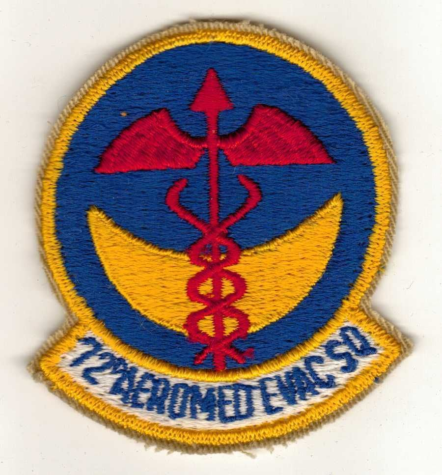 US Air Force 72nD AEROMED EMC SQ, Medical Squadron Patch