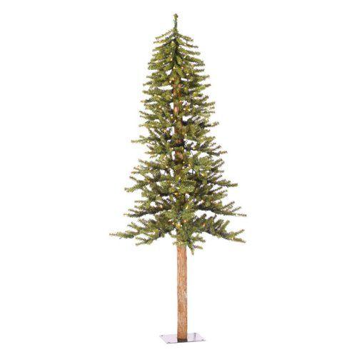 Vickerman Natural Alpine Slim Pre-lit Christmas Tree - Christmas Trees at Hayneedle