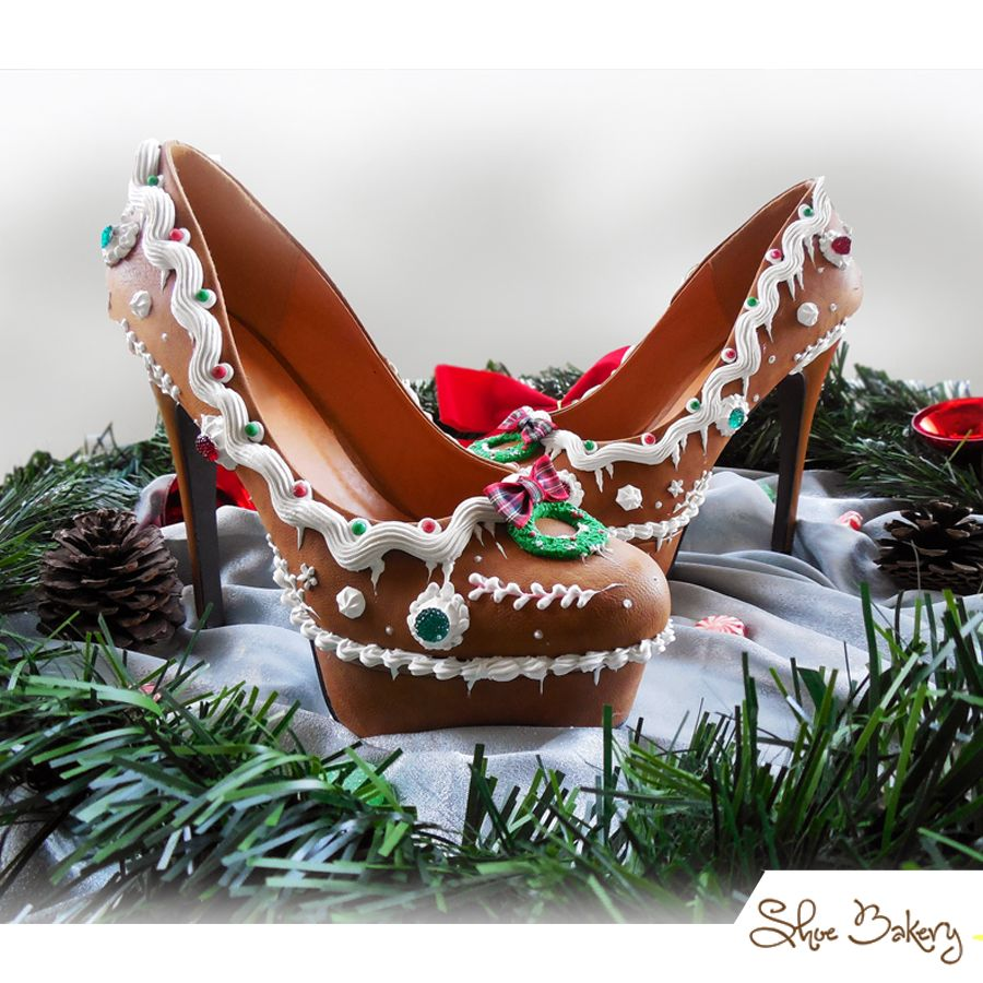 Happy Holidays From Shoebakery Gingerbread High Heels Www Shoebakery Com How To Make Shoes Heels Christmas Shoes