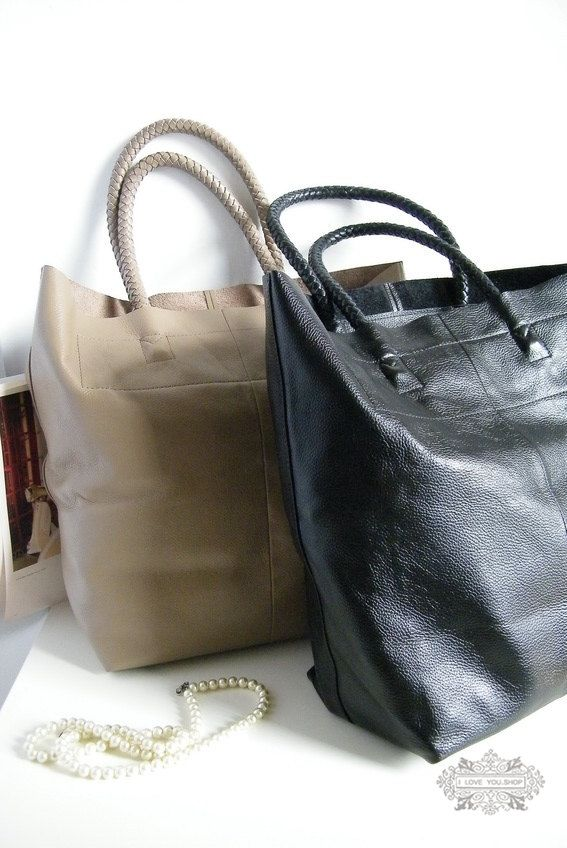 Large Leather Tote Bag Shopper Bag Handbag in by leeloongstudio ... 4475fe7ecca43