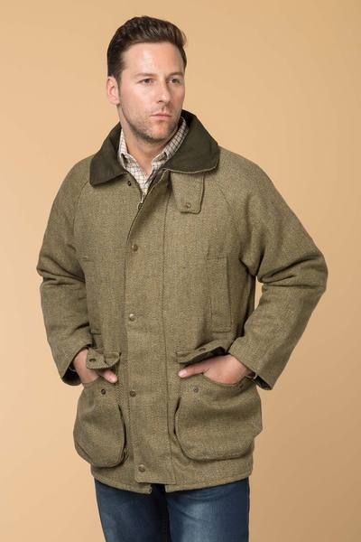 Derby English Men's Tweed Shooting Jacket | Tweed shooting ...