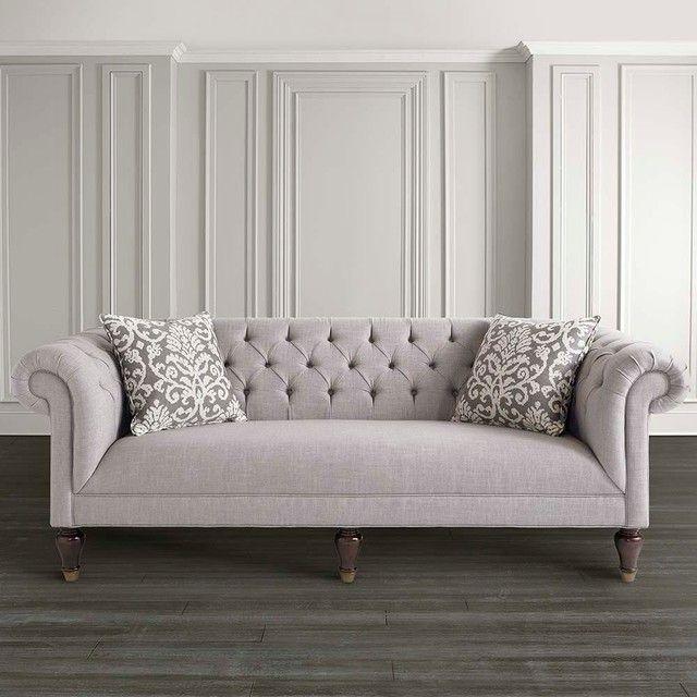 Buy Chesterfield Linen Medium Sofa, Silver From Our Fabric Sofas Range    Tesco.com. Sillón Vintage Gris, Decoración Ecléctica #ChesterfieldSofa #Sou2026