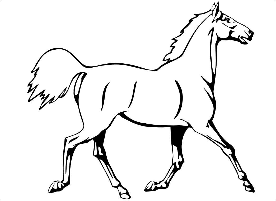 Horse Trotting Coloring Page Horse Coloring Pages Horse Coloring Animal Coloring Books [ 761 x 1045 Pixel ]