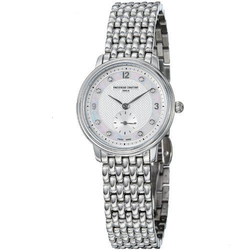 Women Slim Crystal Diamond Steel Grey