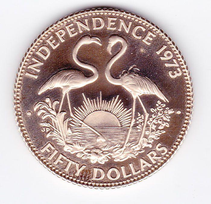 Bahamas - 50 Dollars 1973 'Independence' - Goud  Bahamas - 50 dollars 1973 Independence - Goud in de kwaliteit Proof.Goudgewicht 156448 gram met een gehalte van 500/1000.Zie de afbeeldingen voor een eigen indruk.Wordt aangetekend verzonden.(Code 0307-1)  EUR 250.00  Meer informatie
