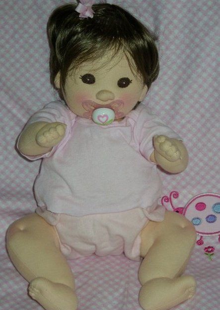 These soft sculpture dolls are SOOOO cute!  PDF PATTERN  Cloth Baby Doll by LaliDolls on Etsy,