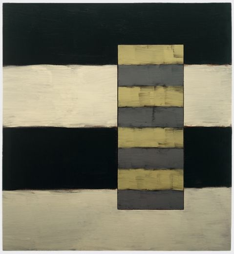 Passenger Yellow Grey  1997  Oil on linen  60 x 56 in (152.4 x 142.2 cm)
