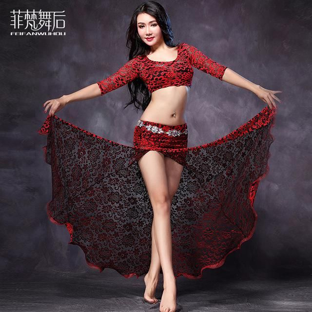 a62b0de14 Fashion Long irregular Sexy Belly dance clothes 2pcs set for women/female,  gypsy training dress costume performance wear FF6118