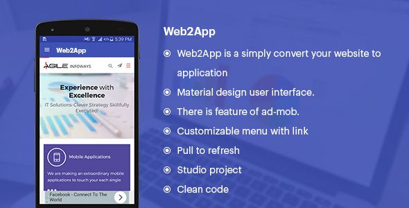 Web2App (Convert your Website to Application)   Codecanyon