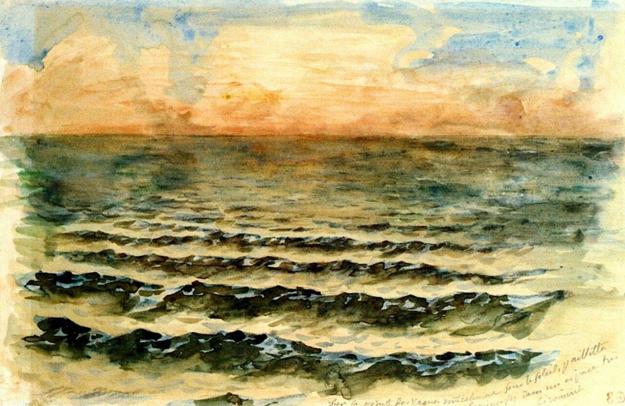 Sunset on the Sea Eugène Delacroix - circa 1854