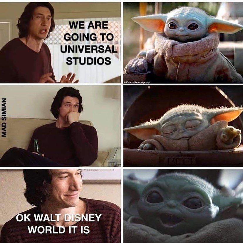 Kylo Ren Just Mad Baby Yoda Getting All The Clout R Babyyoda Baby Yoda Grogu Yoda Funny Yoda Meme Star Wars Memes