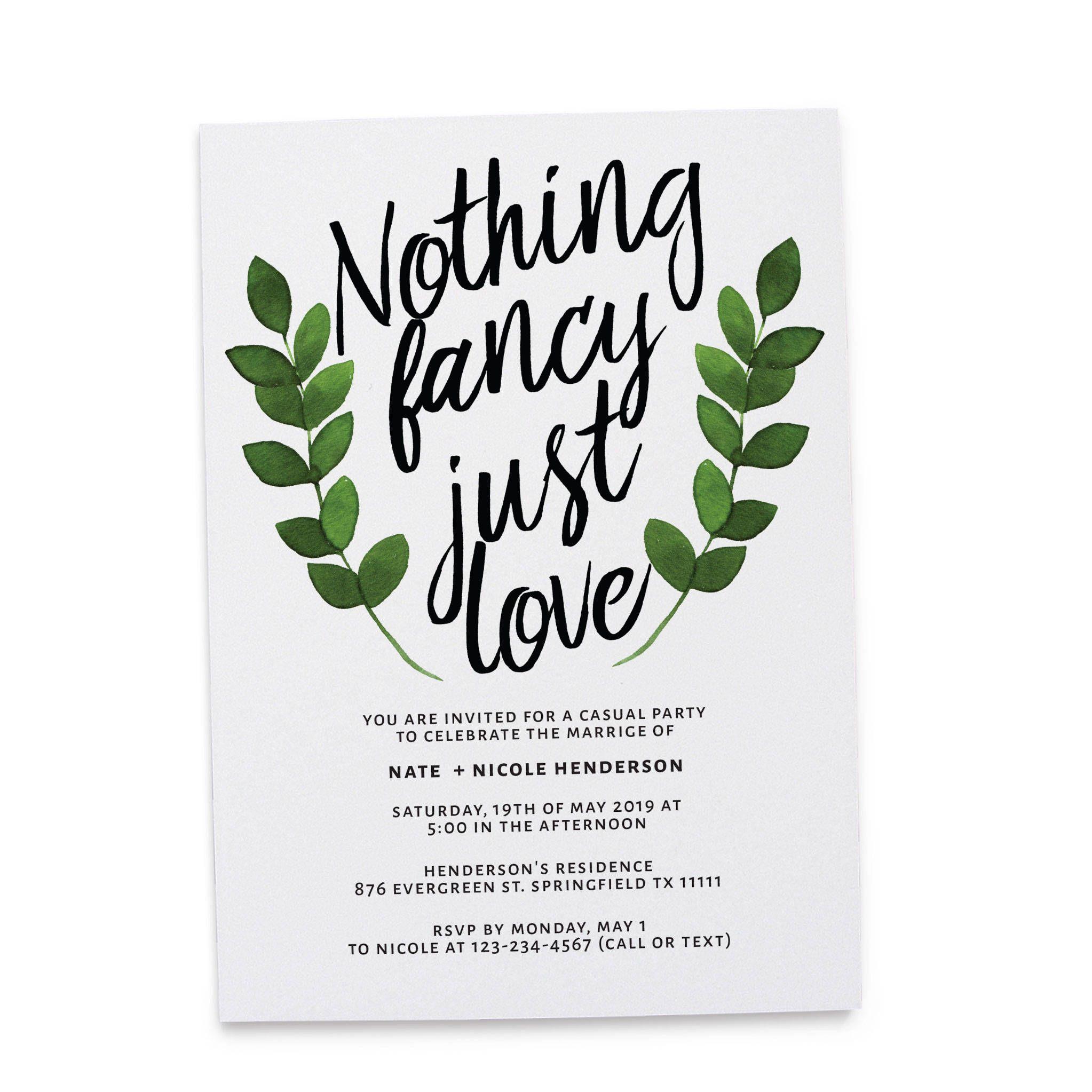 75 Fun Unique Wedding Invitations For Cool Couples Emmaline Bride Casual Wedding Reception Funny Wedding Invitations Wedding Invitation Wording Casual