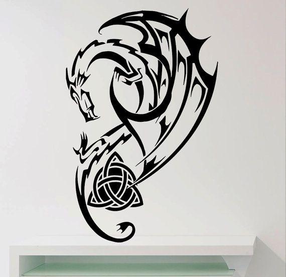 Scottish Dragon Tattoos: Dragon Wall Decals Wall Design Vinyl Home Art Decor