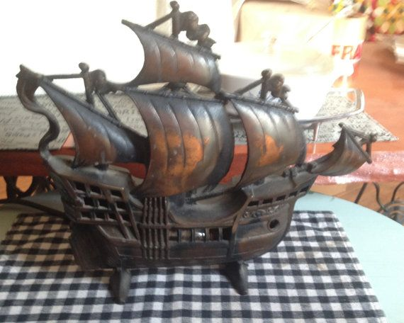 Magnificent Vintage C 1930S Pirate Ship Table Lamp Cast By Interior Design Ideas Clesiryabchikinfo