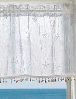 Beach Cottage Sheer Curtain Panels