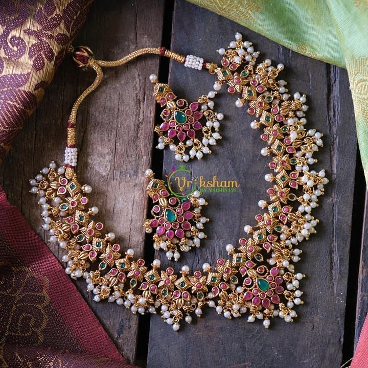 Necklace Designs by the brand Vriksham. Contact ht