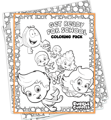 FREE Bubble Guppy Coloring Pages | Meilani\'s 2nd Birthday ...