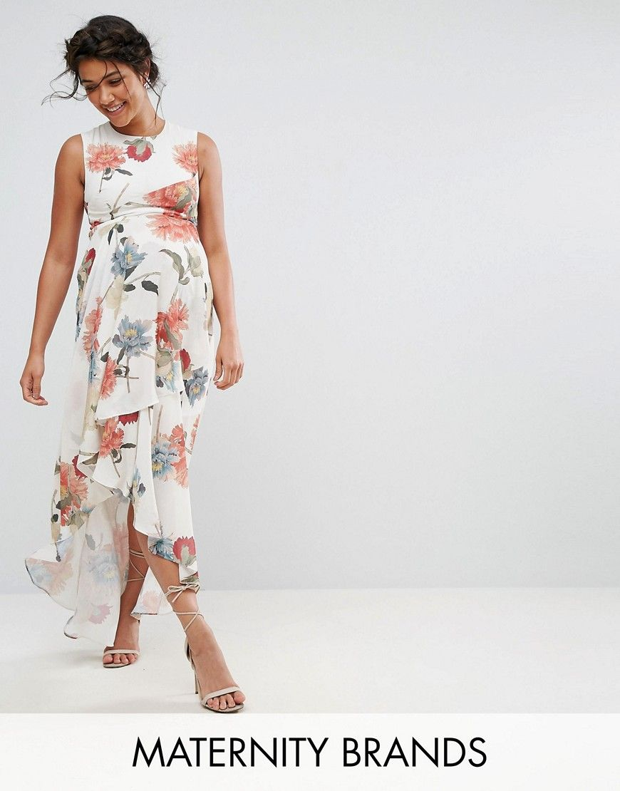 Hope & Ivy Maternity All Over Floral Printed Dress With Ruffle Trims - Multi Hope & Ivy Maternity 1A8T5IhcSX