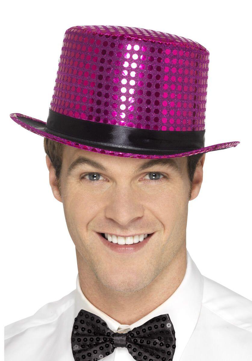 a4f2d2babadb8 Pink Sequin Top Hat