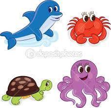 Resultado De Imagen Para Imagenes De Animales De La Costa Animados Sea Animals Images Cartoon Sea Animals Animals Images