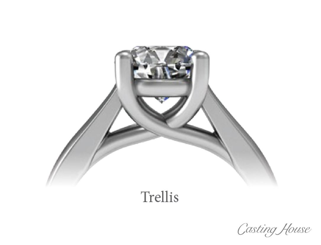 Ring Gallery And Center Setting Styles Trellis Diamond Wedding Rings Sets 3 Diamond Engagement Rings Jewelry