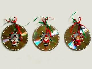 14 Ideas Para Hacer Adornos De Navidad Con Cds Solountipcom - Adornos-de-navidad-reciclados-como-hacerlos