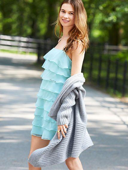 a228490d63d459 Ruffle Shift Dress in aqua frost, sale $19.99 | Fashion | Dresses ...