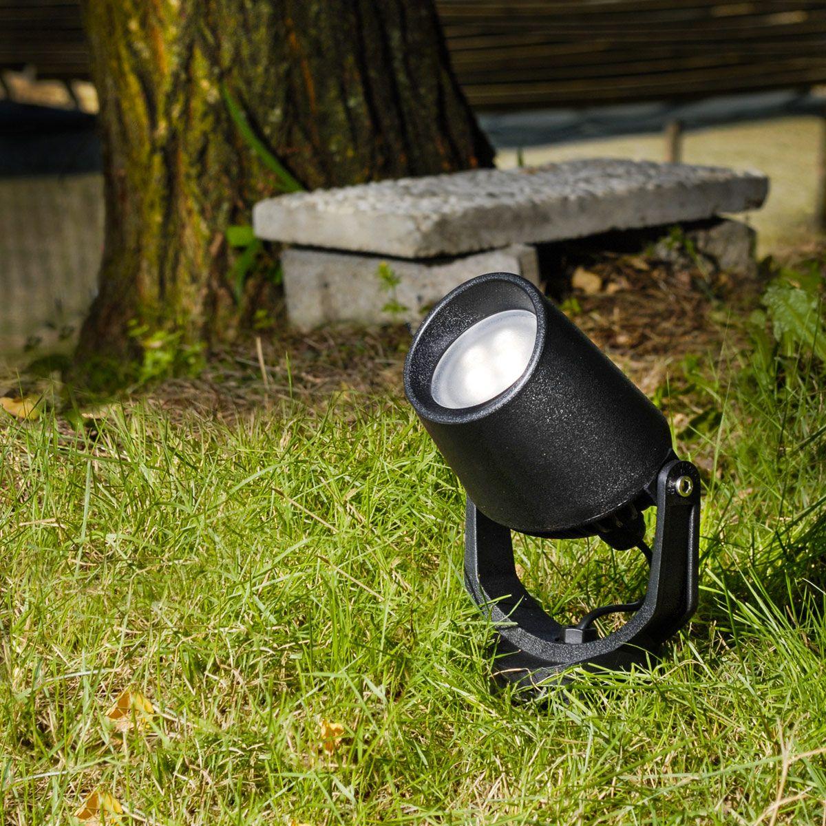 Влагозащитен фасаден LED прожектор, с подвижна глава