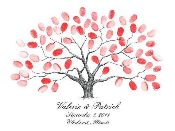 make for Julie and Zac\'s wedding! Thumbprint Tree | Wedding ...