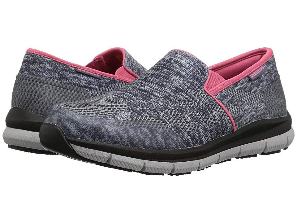 e32d0cb294d0 SKECHERS Work Comfort Flex SR HC Pro SR II Women s Slip on Shoes Blue Gray