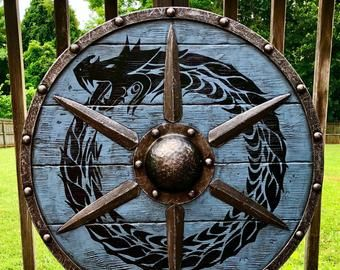 Items similar to Custom Authentic Viking Shield on Etsy ...