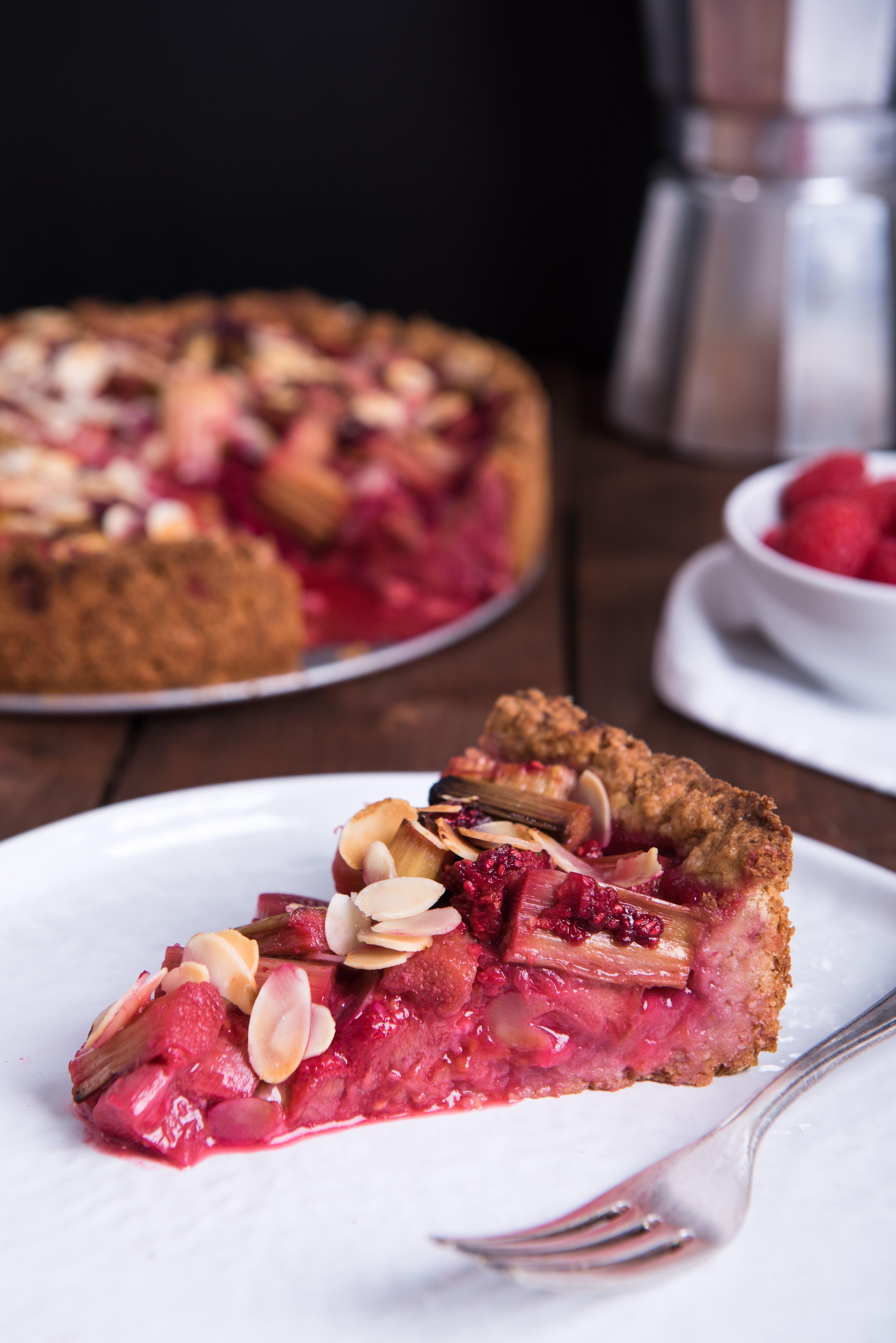 Rhabarber Himbeer Kuchen Rezept Himbeer Kuchen Kochen Und Backen Und Lebensmittel Essen