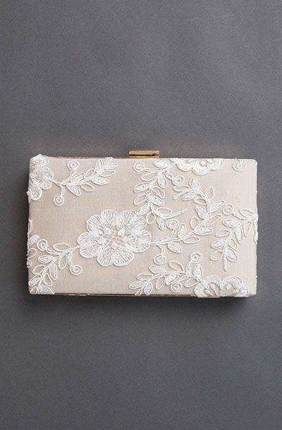 Champagne Floral Clutch