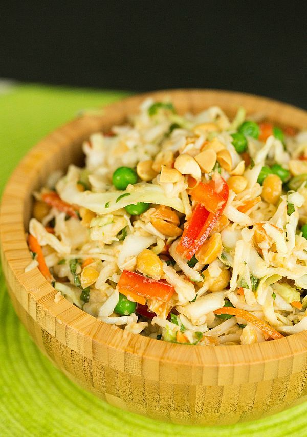 Thai Peanut Cabbage Slaw by @Michelle Flynn (Brown Eyed Baker) :: www.browneyedbaker.com