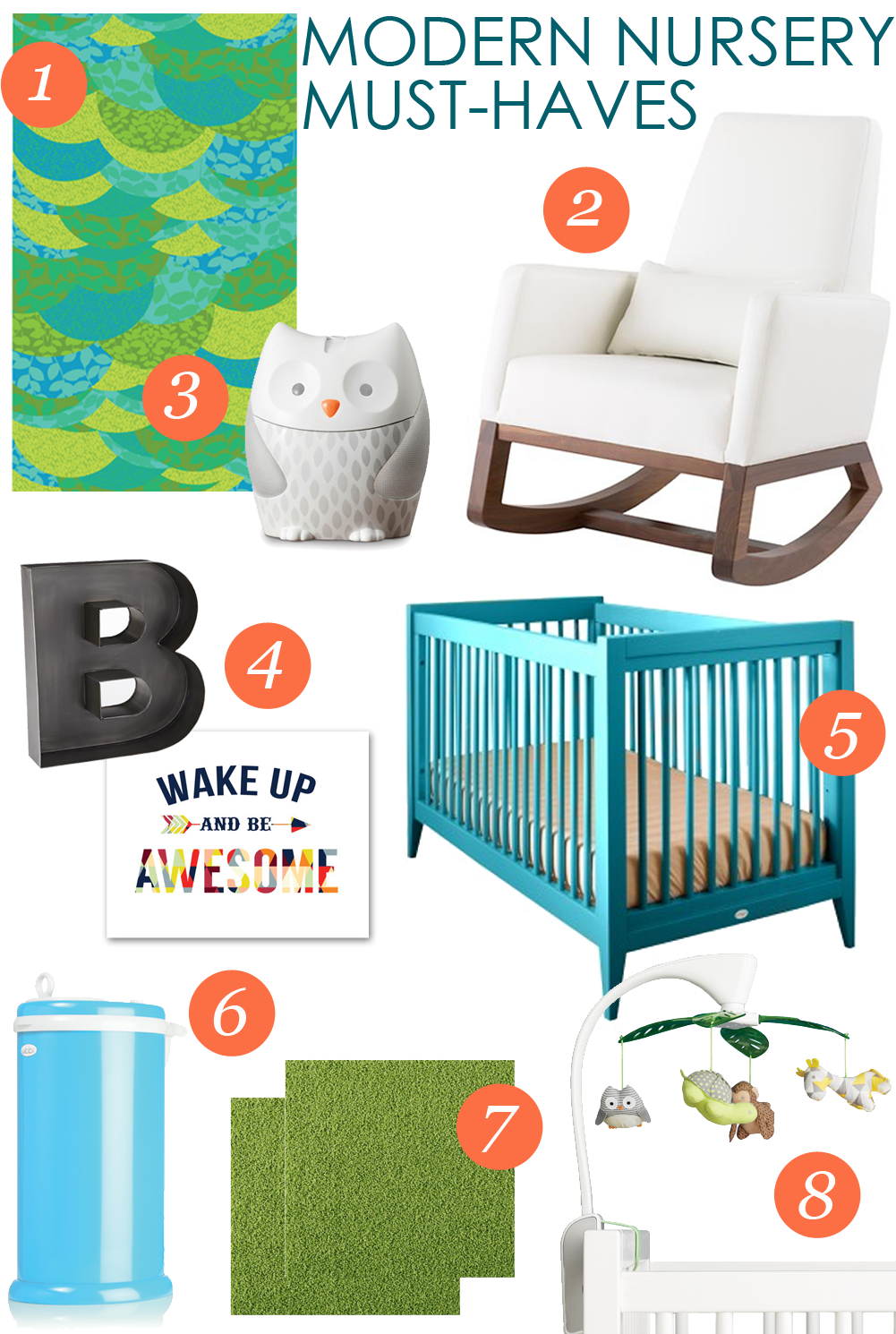 Modern Nursery Must Haves Nurseries And Diapers