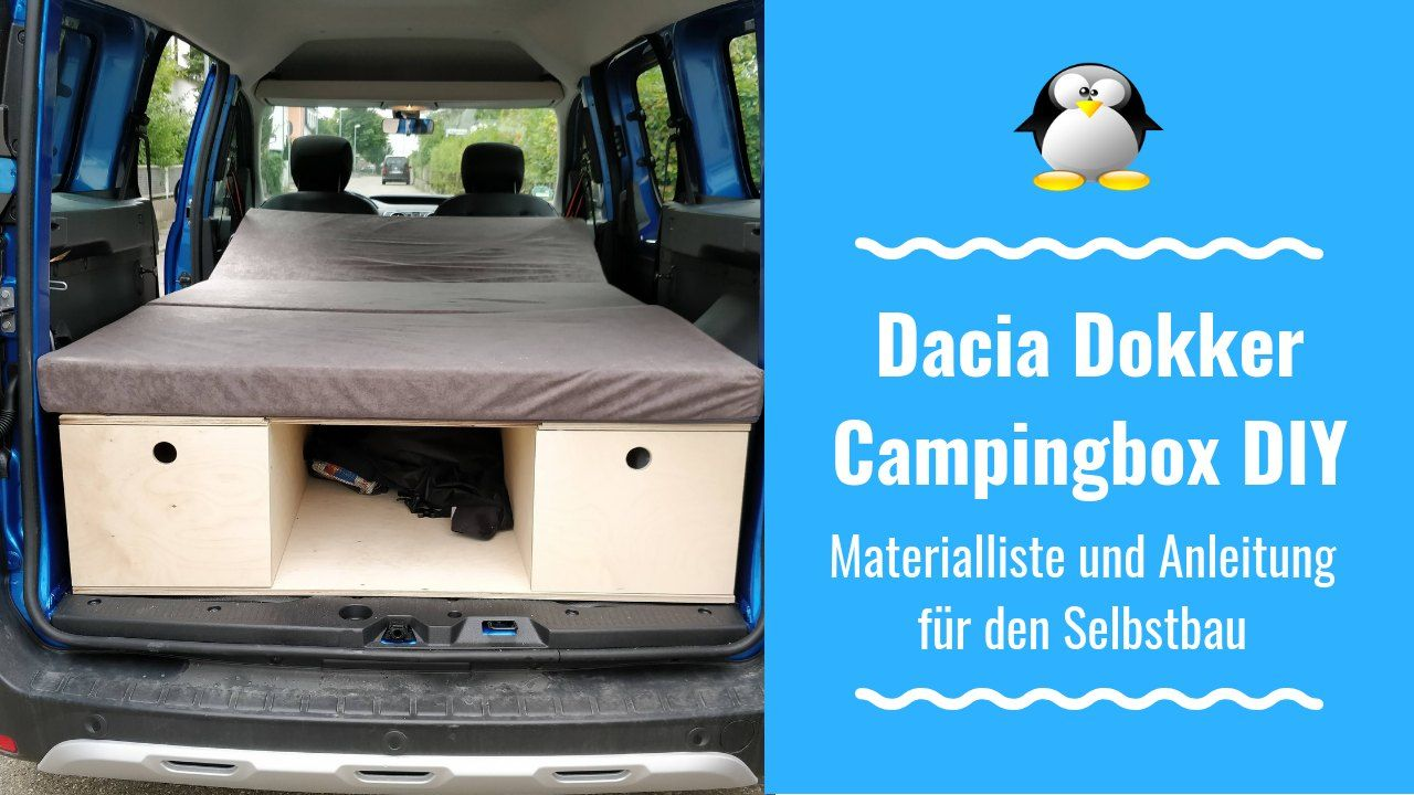 Dacia Dokker DIY Campingbox Materialliste für den