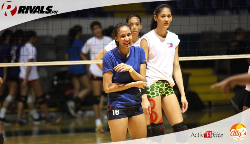 In Photos Team Pilipinas Heats Up In Training For Sea Games Teams Photo Volleyball